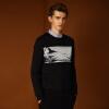 купить Magicpower мужская с длинными рукавами свитер Nordic серии с длинными рукавами черный свитер MGW0756280 L по цене 2001.68 рублей