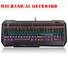 С задней подсветкой Gaming Подлинная Механическая клавиатура Анти-ореолы Luminous Металл Проводная клавиатура клавиатура