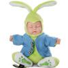 Бибер (Бибер) Кролик Питер плюша кукла ребенка, чтобы успокоить ребенка спать эмуляция игрушки детские игрушки, чтобы успокоить зеленый ваниль