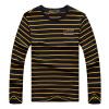 Модная мужская рубашка поло Повседневная летняя мода с коротким рукавом Поло полосатая хлопчатобумажная одежда