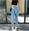 где купить Женщины тонкие узкие джинсы женские брюки нога новый карандаш брюки досуг естественный талии длинные брюки по лучшей цене