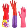 [супермаркет] Jingdong трава перчатки для мытья посуды по дому стирка одежда плюс бархат с длинными рукавами, перчатки термических типа прочные хозяйственные перчатки с тремя парами платья перчатки stella перчатки