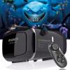 Горячая!2016 Google картон VR shinecon Pro Версия VR виртуальная реальность 3D очки +Смарт-Bluetooth беспроводной пульт дистанцион