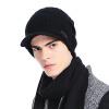 CACUSS шерстяная шляпа мужчины и женщины пары вязаная шапка шерстяная крышка удобная теплая крышка для прикосновения черный Z0135