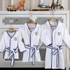 Kang Xin (canasin) пятизвездочные гостиничные халаты текстильный хлопок детский халат осенью и зимой толстый абсорбент махровые с капюшоном халат мужской ребенка на высоте 138 ~ 150см