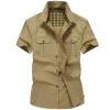 Мужчины рубашки платья плюс размер Короткие рукав рубашки бизнес хлопка способа рубашки мужские Одежда рубашки