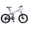 Феникс Феникс складной велосипед 20-дюймовый передний и задний двойной удар 21-скоростной двухдисковый тормоз X608 белый синий