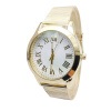 Fashion Mens Roman Numerals Watches Quartz Gold Bracelet Strap Stainless Steel Analog Gift Wrist Watch240164 smileomg hot sale fashion women crystal stainless steel analog quartz wrist watch bracelet free shipping christmas gift sep 5
