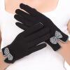 Liangjian женский шерсть печатки зимний сенсорный экран черный общий размер
