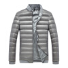 Антарктических мужской моды Корейский бейсбол куртка воротник 90 белая утка вниз теплый пуховик твердый серый 3XL 1902