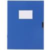 (Deli) 5617 два слоя хранения A4-75mm file box / file box / box blue
