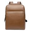 Пугало мексиканский бизнес случайный мужской моды рюкзак мешок плеча первый слой кожи высокой емкости многофункциональный ноутбук сумка MZU50403M-06 Brown