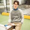 цена Magicpower мужская с длинными рукавами свитер Nordic серии с длинными рукавами свитер MGW0755459 Хетер Грей L онлайн в 2017 году