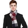 CACUSS мужские шарфы простые решетки дикие шерстяные шарфы мужской красный тибетский зеленый плед W0043