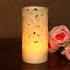 Выдалбливают Процесс Реальный Воск Led Свеча Огни с Таймером, батарейки, Главная Декорации для Вечеринок, 3x6 Inch dfl 3x6 inch flameless real wax pillar electronic led candle with timer with embossed gold pearl