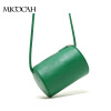 Free Shipping Barrel-Shaped Fashion Women Messenger Bags High Quality Solid Color PU Leather Mini New Brand Women Bag