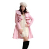 CT & F зимнее пальто женщин шерсти Подогреть Trench Outwear Женщины длинные пальто пальто f
