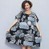 Plus Size Women Clothing Autumn Dress Fashion Chinese Style Print Short Pockets Women Dress Cheap-China-Clothing