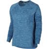 Nike NIKE женщин пуловеры работает быстросохнущие с длинными рукавами футболки синий M 812043-443