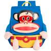 Пол Франк обезьяны рот мужского и женского пола детские школьные сумки ребенка питомник 3D трехмерные формы мешочке 3-6 лет YEB21812BC синий цвет pola 9028 черная pol женская из кожи