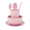 Portable Reusable Wheat Straw Tableware Environment-friendly Tableware Gift Set 460545 цены онлайн