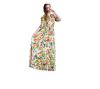Женщины моды платье богемского юбки Лонг-Бич платье Цветочные платья платья trendy tummy платье
