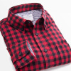 2016 Men Shirt Long Sleeve Casual Plaid Shirts Slim Fit Fashion Male Camisa Masculina Colorful Shirt Men Casual Shirt Plus Size