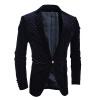 Мужчины вельвет костюм пальто