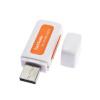 Портативный USB 2.0 4 в 1 памяти Multi Card Reader для TF T-Flash M2 Card transcend multi card p8 usb 2 0 white