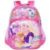 Барби (Barbie) Детский школьный школьный школьный женские модели простой мультфильм 2 - 5-й класс розовый рюкзак BB8090A barbie детский складной самокат barbie двухколесный