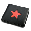 Пугало мексиканский вскользь мужской бумажник кошелек бумажник коровьей звезда вертикальный бумажник короткий бумажник MFL30696M-04 Black
