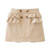 Cicie детская одежда девочек двубортный вельветовые юбки короткие юбки бежевый 171 012 110