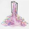 [Супермаркет] Jingdong антарктический (Nanjiren) длинный отрезок шифоновый шарф шаль двойной рост воодушевляющее - розовый шифоновый бейбидолл 42 46