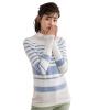 Инь Человек (ИНМАН) 2017 Нянь весной новый полосатый лодка шеи пуловер свитер женский светло-голубой IOUs S 1871302289