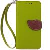 Зеленый дизайн Кожа PU откидная крышка бумажника карты держатель чехол для Apple iPhone 6 цветочный дизайн кожа pu откидная крышка бумажника карты держатель чехол для iphone 7g