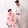 Playboy 4807 Пара пижамы Мужские шелковые Главная Мужские кардиганы Летние рукава Мужская пижама Установить абрикос L