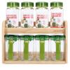 Блокировка и блокировки (замок и замок) специи банка приправы бутылка зеленого костюма приправа Box Set (430ml банка * 4 + 380ml приправа пряности банка стойка * 4 + древесины) HPL949S8