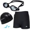 YINGFA четыре комплекта, плавательные трусы, плавки, очки для плавания, шапочка для плавания, наушники набор для плавания hello kitty hey32623 очки шапочка