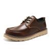 OKKO инструментальная обувь мужская большая обувь обувь Британская наружная повседневная обувь круглый толстый нижний обувь обувь обувь 8763 коричневый 42 ярдов обувь shoiberg