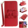 Красный Panda Стиль Тиснение Классический откидная крышка с подставкой Функция и слот кредитной карты для SAMSUNG GALAXY S6 коричневый panda стиль тиснение классический откидная крышка с подставкой функция и слот кредитной карты для samsung galaxy s6