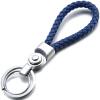 [Супермаркет] JOBON Jingdong взрыва двойной брелок ручной веревку ключ брелок автомобиля ключ кольцо цепи кулон кольцо ZB-136 синий веревка серебряное кольцо пряжки творческие подарки подарок на день рождения