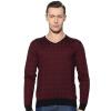 Аши Дейтон мужской моды случайные V-образным вырезом шерстяной свитер легкий коммерческий ватные красный 170 / M AW15309276