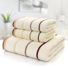 Zi шелк хлопок трехсекционный полотенце хлопок полотенце банное полотенце толстый мягкий и абсорбент (2 полотенца + 1 банное полотенце) Smart Series Бежевый