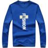 Длинные степени Jeep футболка мода мужская шею длинными рукавами свитер 17030L02 синий цвет 4XL mai senlan синий цвет дорожный велосипед команда летом ярдов дышащая быстросохнущая с длинными рукавами ансамбль одежды mtb m xl