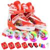 Доспехи воина дети коньки мужчины и женщины роликовые коньки напольные игрушки полные мигающие роликовые коньки KJ336 красный код M коньки