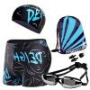 YOUYOU мужской набор плавания, плавательные трусики, плавки, плавательные очки для близоруких, шапочка для плавания набор для плавания hello kitty hey32623 очки шапочка