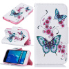 Персик бабочка Дизайн искусственная кожа флип кошелек карты держатель чехол для SAMSUNG Galaxy J1 2016/J120F dekker для samsung galaxy j1 2016 white