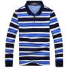 (CARTELO) с длинными рукавами футболка мужской лацкане полосатый мужской случайный рубашка POLO 16001KE0906 синий XL polo sport рубашка плед случайный с длинными рукавами рубашка мода slim мужской раздел 71lf15484 темно синий xl