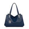 Audemars Piguet Кенгуру (AP.DISHU) первый слой кожи тиснением кожи плеча сумки женщин сумка сумка досуг большой пакет AP8200-1 темно-синий