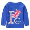 Родители родителя (KIDS МАМ & DAD) Детский шею длинными рукавами футболки печать основывая рубашки мальчиков мальчиков темно-синий пиджак 52894 150